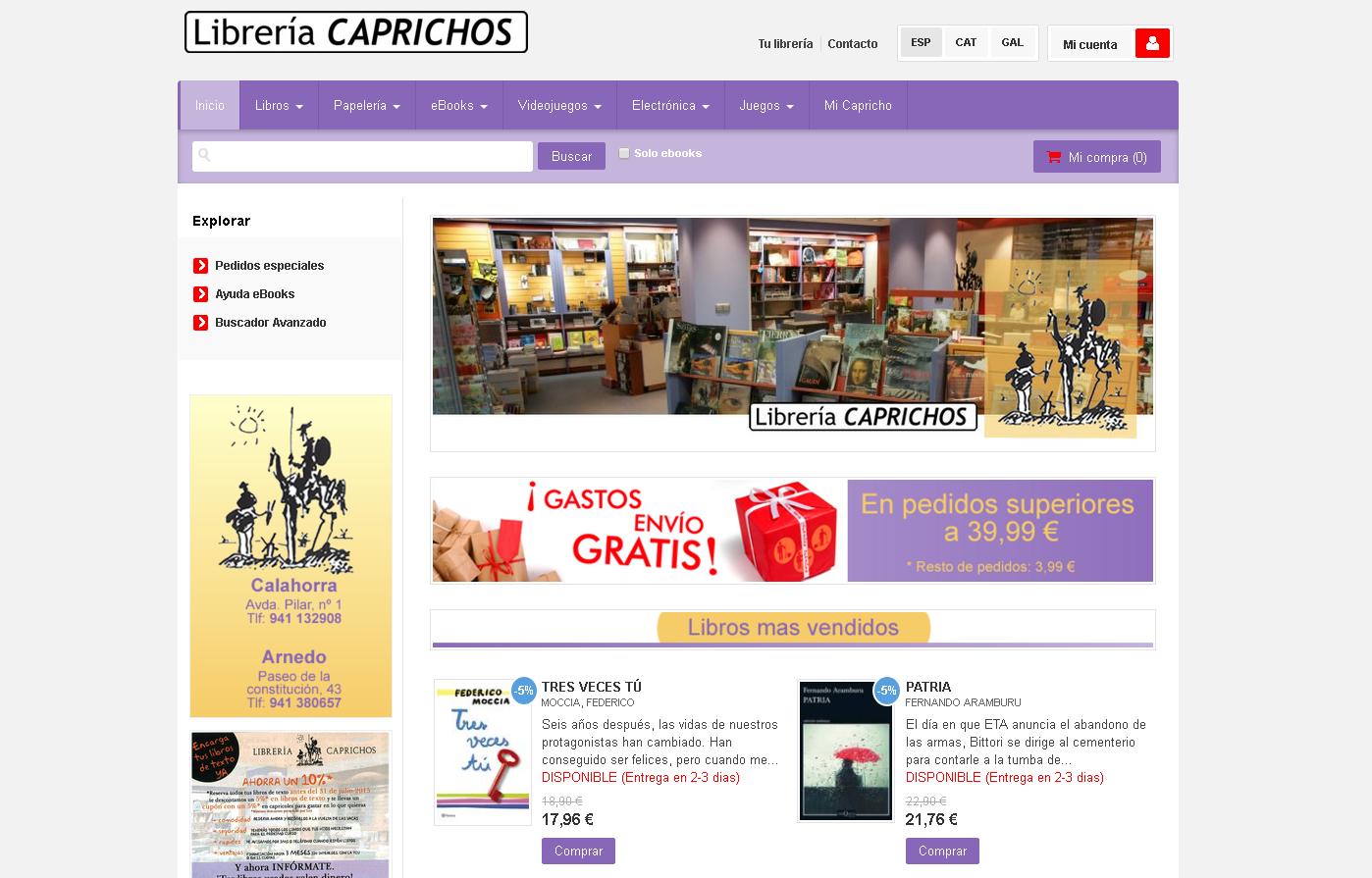Librería Caprichos