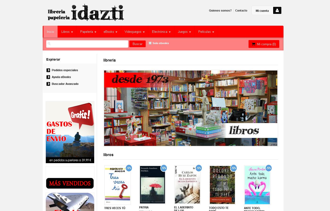 Librería Idazti