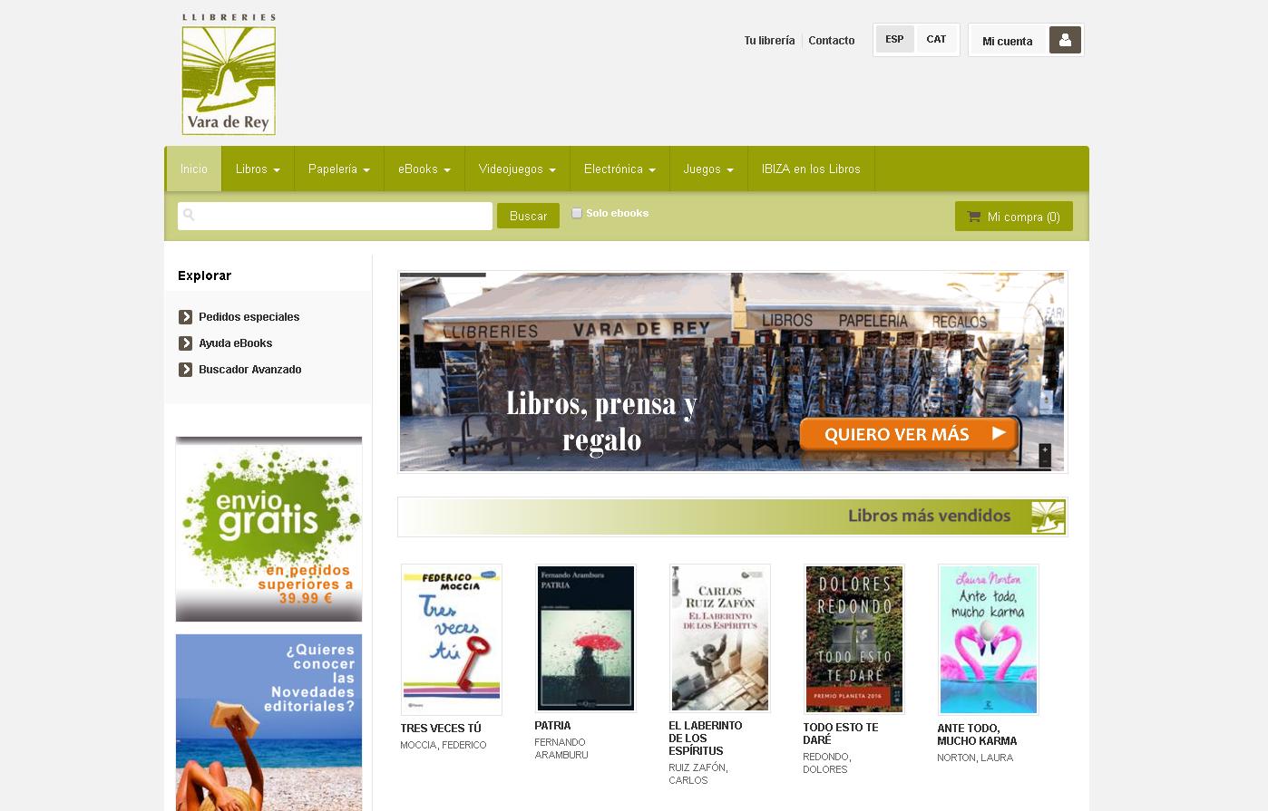 Librería Vara de Rey
